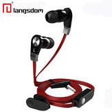 Langdom JM02 Super Bass Sound 3.5mm In-Ear Auricolare con microfono remoto Controllo per telefoni IOS Android
