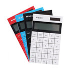 M&G ADG98719  Thin Flat Desktop Calculator 12-digit Calculator Dual Power Solar Scientic Calculater for Business Finance Office School