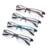 Fashion Men Ultra-Lightweight Half Rimless Metal Eyeglasses Frame Business Glasses Frame