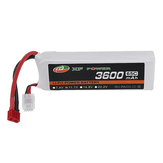 XF POWER 11.1V 3600mAh 65C 3S Lipo البطارية T Plug for RC Car