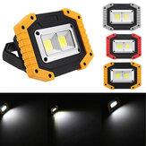30W USB LED COB externo 3 modos de trabalho luz lanterna de acampamento lanterna de emergência holofote holofote holofote luz de acampamento