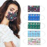 Dessin animé adulte 50 pièces masques jetables bouche masque respiratoire 3 couches Protection personnelle de noël anti-poussière