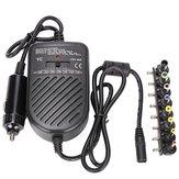 Universal 80W Laptop Car Charger Adapter Power Supply Adjustable Power Set 8 Detachable Plug