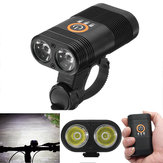 XANES DL09 1000LM 2 x XPE LED 5 Modes Smart Power Indicator 1800mAh Rechargable 150 ° Wide Angle IPX6 Vandtæt Bike Light
