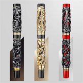 Jinhao 0.5mm Nib Fountain Pen Dragon Calligraphy Business Gift Signature Writing Ink Pens Office Stationery Supplies