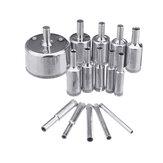 15 sztuk 5-50mm zestaw wierteł diamentowych do otworów wiertniczych do płytek ceramicznych ze szkła marmurowego