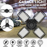 30W / 45W / 60W / 80W E27 LED Garage Light Deformable Plafoniera Officina Magazzino lampada 85-265V