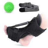 OUTERDO Foot Drop Orthosis with Fitness Ball Adjustable Plantar Fasciitis Night Splint Brace Support Night Splints Pain Relief Ankle Support