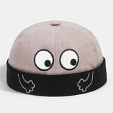 Banggood Design Men Solid اللون Cartoon Pattern Brimless Beanie المالك قبعة الجمجمة كاب