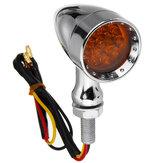 12v 10mm دراجة نارية 15 LED رصاصة بدوره إشارة مؤشر أضواء الفرامل العالمي