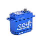 القوة عالي الوضوح LW25MG رقمي المؤازرة 25KG ميتال جير الزاحف الخاصة ضد للماء عزم دوران كبير ل KM2 TRX-4 T4 RC Car