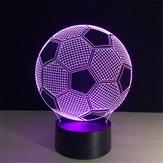 5V 3W 3D LED Fooball Night Light 7 цветов Сенсорный выключатель Дистанционное Управление Стол Лампа