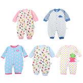 Roupa recém-nascido do algodão do bebê do Romper dos desenhos animados Roupa infantil dos meninos das meninas do infante