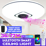 36W/72W WIFI LED Ceiling Light RGB Bluetooth Music Dimmable Lamp APP Remote