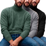 Original              Men's Long Sleeve Turtleneck Pullover Casual Comfortable Sweaters Autumn Winter Warm Knitted Clothes