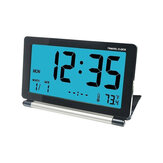 Loskii DC-12 Travel Alarm Clock LCD Mini Digital Desk Folding Electronic Alarm With Backlight