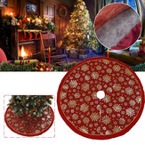120cm Stitched Santa Christmas Snowflake Skir Tree Skirt for Home New Year 2020 Christmas Fancy Decoration