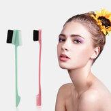 Haarbürste Kantenbürsten Doppelendige Stirnbürste Kamm Haarschnitt-Werkzeug für Augenbrauen