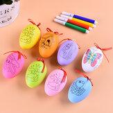 Décorations de Pâques bricolage oeufs de peinture à la main couleur mélangée oeufs artificiels enfants jouet pour bureau à domicile
