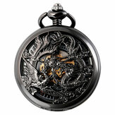 Deffrun Phoenix und Dragon Mechanical Pocket Watch