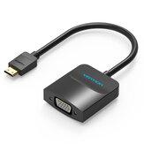 Vention AGABB Mini HD para VGA Converter 1080P Cabo conversor de vídeo com interface de áudio e fonte de alimentação