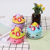 2PCS LeiLei Squishy Ice Cream Strawberry Fruit Cup Cake Slow Rising Originele verpakking Gift