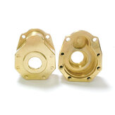 2pcs Steering Cup Brass Counterweight Gear Cover For 1/10 Rc Crawler Truck Trx4 Spare Parts