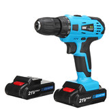 21V Cordless Power Drill 2 Speed Electric Screwdriver with 2 Multipurpose Li-ion Batteries