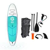 JSYACHT Pompowana deska wiosłowa SUP 9,5 stopy Przenośna stojąca deska surfingowa Długa deska z torbą, pompką, płetwą, łańcuchem zabezpieczającym