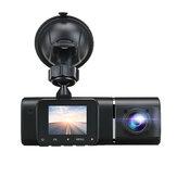 Rejestrator samochodowy 1080P z podwójnym obiektywem kamera na deskę rozdzielczą z przodu i wewnątrz 170 ° G-sensor IR Night Vision HD Camera Recorder