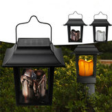 solare Powered LED Candle Light Outdoor Garden Pathway Lawn Light campeggio Hanging lampada