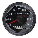 85MM Siyah Paslanmaz Çelik GPS 0 - 160MPH Hız Kameralı Araba Kamyon için Motosiklet