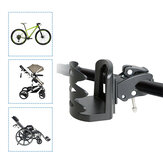 BIKIGHT Adjustable ABS Cup Holder 5.7-7.2CM Water Cup Support For Bicycle Baby Carriage Strong Holder Wheelchair