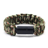 IPRee® EDC Outdoor Survival Armband Camping Nood Paracord Tool Kits USB Android Datakabel