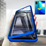 Bakeey for Xiaomi Mi 10 Lite Case 3 in 1 Plating 360° Full Cover Frosted Ultra-thin with tempered Glass PC Hard Protective Case