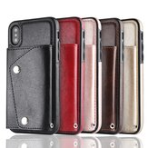 Bakeey Luxury Genuine Leather Multiple Cards Slot Wallet Holder Shockproof Protective Case for iPhone X/XS iP XR iP XS Max iP 8 iP 8P iP7 iP7 Plus