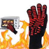 LuvadagradedoBBQ500 ℃ luvas resistentes ao calor extremas que cozinham cozendo luvas que acampam o piquenique