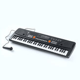 61 Keys Mini Electronic Keyboard Piano Set Microphone Sing Gift for Kids Child