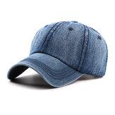 Mens lavados em algodão Cowboy Baseball Cap Casual Sunscreen Chapéu ajustável