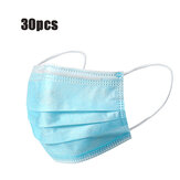 30Pcs Disposable Mouth Face Masks 3-layer Respirator Mask Dust-Proof Personal Protection