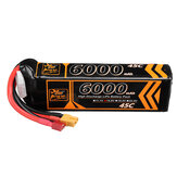 ZOP Power 14.8V 6000mAh 45C 4S Lipo Battery T Deans XT60 Plug for RC Car