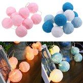 Bateria Powered 10LEDs Warm White Cotton Ball Fairy String Light para casamento Natal DC3V