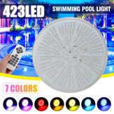 LED Schwimmbadleuchte 423leds AC / DC12V RGB Harz Ersatz PAR56 Lampe Wasserdicht IP68 Multi Color 2m Draht Unterwasserleuchten