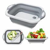 IPRee® 7L Küchenschneidebrett Faltbarer Multifunktions-Abflusskorb Waschen von Obst Gemüsekorb