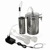Vacuum Pump +Double Heads 2L  Electric Milking Machine Portable Milker Goat Cows