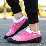 Women Plus Size Breathable Soft Sole Lightweight Slip On Athletic Shoes Sneakers