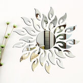 Espejo 3D Sun Flower Totem Etiqueta de la pared removible Decal Home Room Decor
