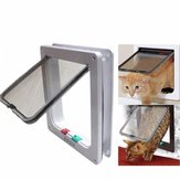 Medium Small White Pet Cat Puppy Dog Supplies Lock Frame Safe Security Flap Door Gate Pet Supplies