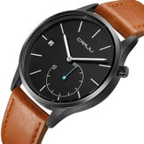 CRRJU 2129 Casual Style Calendar Leather Strap Men Watch