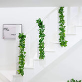 Artificial Hoja Ivy Vine Planta Follaje Hojas verdes Decoración del jardín del hogar
